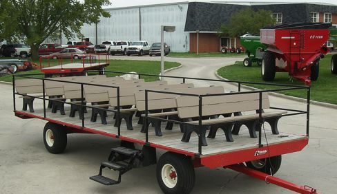 "EZ Trail ""People Hauler"" Seat Wagon 9' x 24' Flat Bed on 1090"